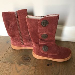 Livie & Luca Shoes - Livie & Luca boots for girls! Rust suede leather.
